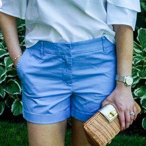 "J.Crew Powder Blue Chino Shorts- 5"""